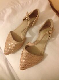 Ladies size 5 NEXT crossover-strap occasion shoes