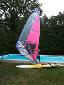 Mistral Equipe Race Carbon CHS Wind Surf Board and Sail