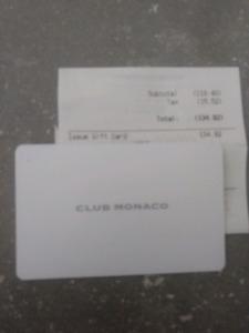Club monaco gift card kijiji in ontario buy sell save with club monaco gift card 120 negle Gallery