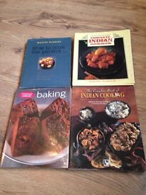 X4 used cooking recipes books baking and Indian