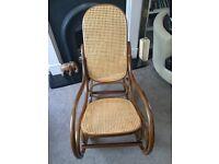 Bentwood Wicker Rocking Chair