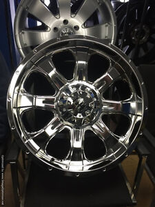 20 inch Fast C4 PVDChrome Wheels -- HD Offroad Style 6x135/139.7