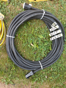 50 FOOT BLACK H/D 14/3 EXTENSION CORD & 25 FOOT 12/3 CORD