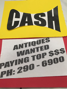ANTIQUES PURCHASED 7 DAYS WEEKLY