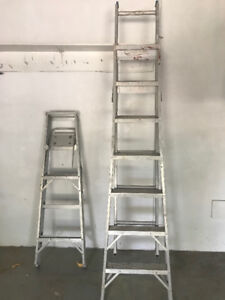 Combination extension Ladder and step ladder