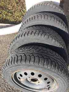 Ford Focus Nokian Winter Tires On Rims