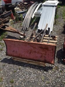 Farm Tractor front mount plow & winch