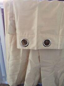Primark cream curtains 90x90