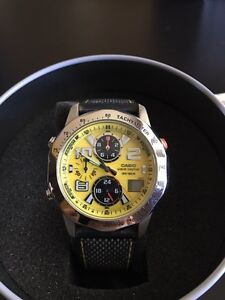 CASIO MEN'S WAVE CEPTOR ALARM CHRONOGRAPH RADIO CONTROLLED WATCH West Island Greater Montréal image 2