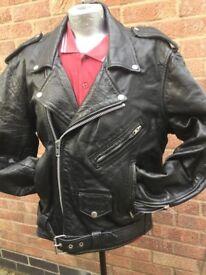 Motorcycle Jacket Classic Leather Coat