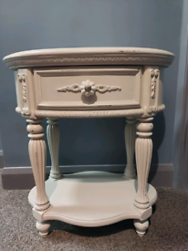 Stunning solid wood french style bedside table