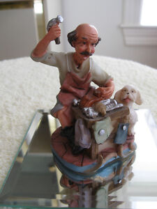 ...JUST a CHARMING OLD-FASHIONED TYPICAL  GRANDFATHER FIGURINE..
