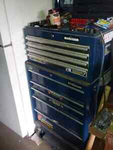 Blue stand up tool chest
