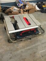 "Bosch 10"" mobile saw"
