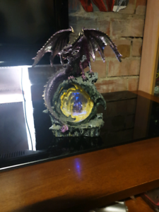 Dragon statue with  changing  color  lights Fawkner Moreland Area Preview