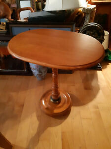 "Beautiful vintage wooden table24"" tall and 22 by 15"" wide"