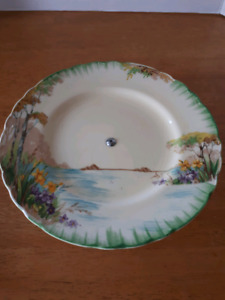 Antique art deco serving plate