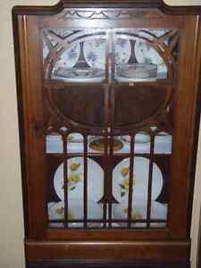 Antique china display cabinet - SEE ALL OF THE PICTURES ........