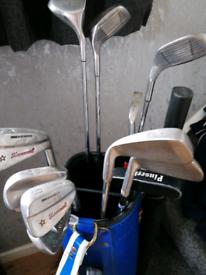 golf clubs & bag