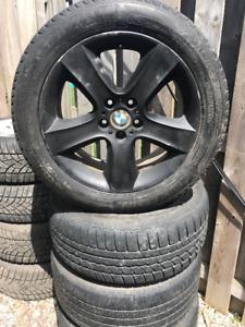 "'07-13 BMW X5 Black 19"" Rims w/  Tires 255/50/19"