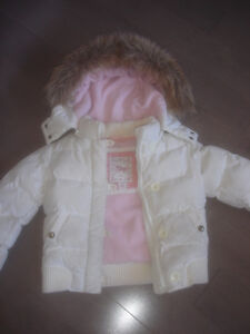 GAP Toddler Girls Winter Jacket off white Size 4-6 ( 6-7 )