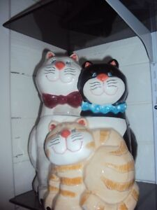 Bowring Cat cookie jar, mom, dad and kitten
