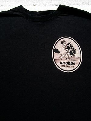 INCUBUS Local Crew 2011 tour XL concert T-SHIRT