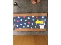 Childs air sprung little stars headboard new.