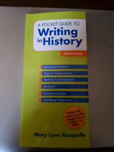 A Pocket Guide to Writing in History. 9th Edition