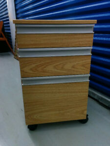 Wood Finish Filing Cabinet