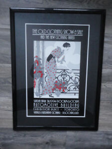 The Old Clothing Show & Sale Framed Poster 1994