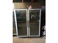 Double door commercial chiller