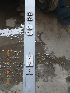 Aluminum Pole with 3 outlets
