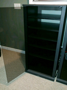 PRICED TO SELL! 2 Toshiba Entertainment Cabinets with glass door