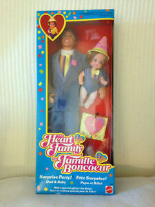 Heart Family Dad & Baby ~ circa 1985 MINT IN BOX