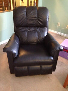 Black Leather Recliner $50