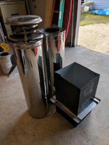 Wood stove chimney pipe
