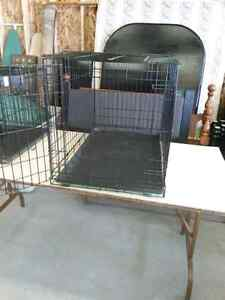 Small wire dog kennel, black