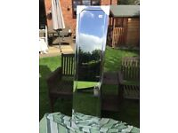 New and boxed silver CHEVAL free standing mirror
