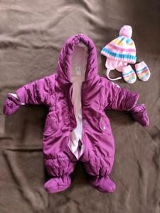 Baby Snowsuit w/ N/B hat & mittens