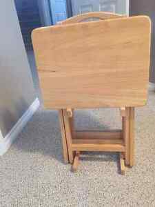 Like New Wooden TV tables