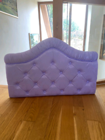 Purple headboard - single bed - excellent condition