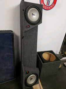 """sub box with 2 10"""" JL audio subs"""