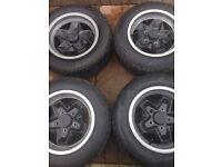 """Porsche Cookie cutter 15"""" Black Alloys & Tyres"""
