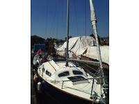 20ft bilge keel yacht (Hurley)
