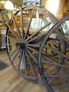 Old Wagon Wheels at The Old Attic