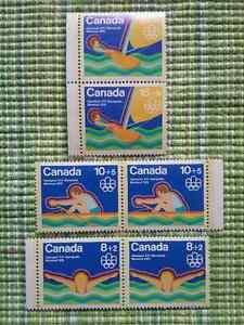 Timbres Canada -  Jeux Olympiques 1976 - 10c, 15c & 20c.