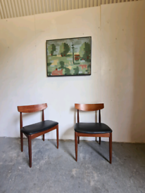 2 Danish Vintage Chairs by Kofod Larsen