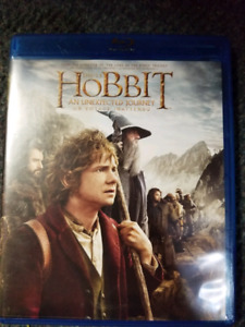 The Hobbit An Unexpected Journey blu-Ray and DVD