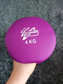 One Neoprene 4kg Dumbell